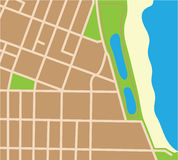 Kawałek mapa Zdjęcia Stock