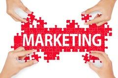 Kawałek marketingowy rozwiązania pojęcie Fotografia Royalty Free