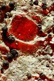 Kawałek Odbija czerwone światło łyszczyk fotografia royalty free