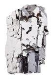 Kawałek odizolowywający galena kamień Zdjęcia Royalty Free