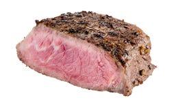 Kawałek odizolowywający na bielu mięso zdjęcie stock