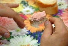 kawałek ostatni kanapka Obraz Stock
