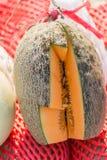 Kawałek pomarańczowy melon cutted dla próbnego smaku Obrazy Royalty Free