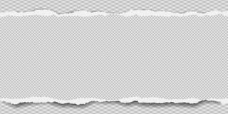 Kawałek poszarpany, ciosowy nutowy papierowy pasek z miękkim cieniem, jest na popielatym diamentowym tle r?wnie? zwr?ci? corel il ilustracja wektor