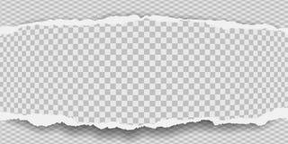 Kawałek poszarpany, ciosowy nutowy papierowy pasek z miękkim cieniem, jest na popielatym diamentowym tle r?wnie? zwr?ci? corel il royalty ilustracja