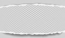 Kawałek poszarpany nutowy papierowy pasek z diamentu wzorem i miękkim cieniem jest na popielatym tle r?wnie? zwr?ci? corel ilustr ilustracji