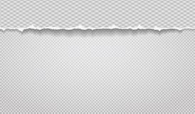 Kawałek poszarpany papierowy pasek z diamentu wzorem i miękkim cieniem jest na popielatym ciosowym tle r?wnie? zwr?ci? corel ilus royalty ilustracja