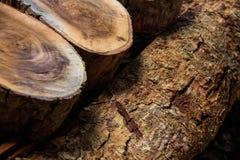 Kawałek przygotowywający dla budowy drewno Zdjęcie Stock