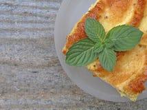 Kawałek smakowity jabłczany kulebiak z mennicą Zdjęcie Stock