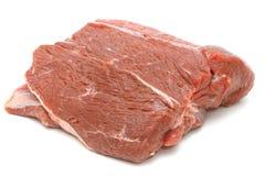 Kawałek surowa wołowina na bielu Fotografia Royalty Free