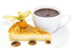 Kawałek tort z pasyjną owoc Obraz Royalty Free