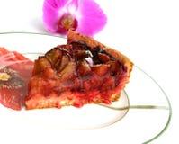 kawałek tortu śliwkowy obrazy stock