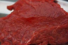 Kawałek wierzący mięso w planie, fotografia royalty free
