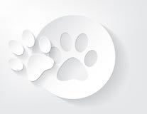 Kawałek zwierzęcy śladu papier. royalty ilustracja