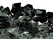 Kawałki łamający lub pękający na bielu szkło ilustracja wektor