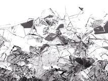 Kawałki łamający lub pękający na bielu szkło ilustracji