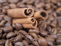 Cynamon i kawa obraz stock