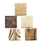Kawałki Czekoladowy Fudge zdjęcie stock