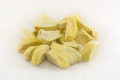 Kawałki durian marzną suchego proces Zdjęcia Royalty Free