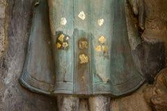 kawałki kamienie antykwarski Buddha, antykwarski ściana z cegieł i pagod Obraz Royalty Free