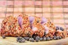 Kawałki mięso z pikantność Zdjęcie Royalty Free