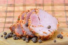 Kawałki mięso z pikantność Fotografia Stock