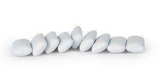 Kawałki odizolowywający na białym tle biały guma do żucia Fotografia Royalty Free
