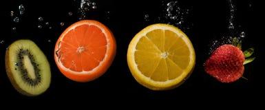Kawałki owoc w round zdjęcie royalty free
