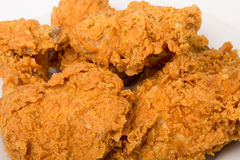 Kawałki pieczonego kurczaka zakończenie Zdjęcia Stock