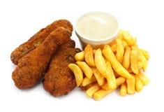 Kawałki południowy pieczony kurczak Obraz Royalty Free