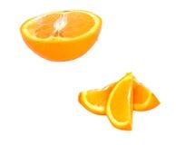 kawałki pomarańczowe Obraz Stock