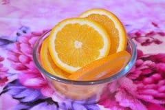 kawałki pomarańczowe Obraz Royalty Free