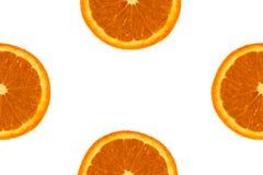 kawałki pomarańczowy białe tło Fotografia Stock