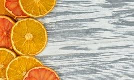 Kawałki pomarańczowy i grapefruitowy Obrazy Royalty Free