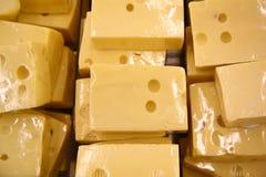 kawałki serów Fotografia Stock
