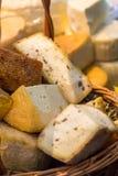 Kawałki ser z pikantność obrazy stock