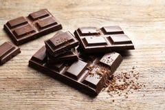 Kawałki smakowita czekolada obraz royalty free