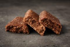 Kawałki smakowity proteina bar obraz stock