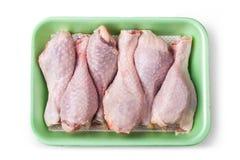 Kawałki surowy kurczaka mięso fotografia stock