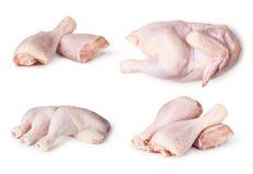 Kawałki surowy kurczaka mięso Obrazy Royalty Free