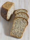 Kawałki zbożowy chleb bez drożdże Zdjęcia Royalty Free