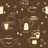 Kawa Bezszwowa Zdjęcia Royalty Free