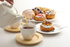 Kawa, ciasta, Fotografia Royalty Free