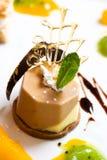 kawa czekoladowy deser Zdjęcia Stock