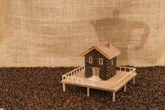 Kawa dom Zdjęcie Stock