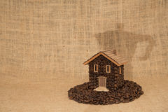 Kawa dom Zdjęcia Stock