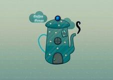 Kawa domowy logo Zdjęcie Stock