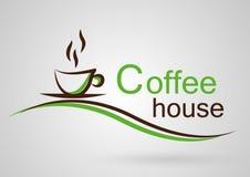 Kawa domowy logo obraz stock