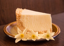 Kawałek cheesecake Fotografia Stock