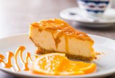 Kawałek cheesecake Zdjęcie Stock